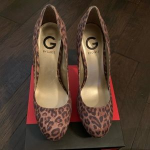 GUESS Cheetah Print Heels